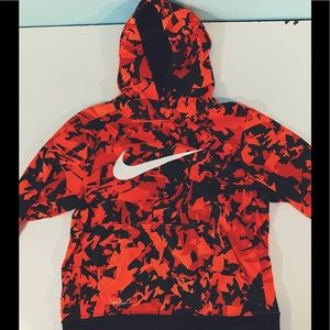 Nike Youth Orange Camo Hoodie 1582